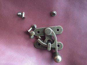 Hook & Eye clasp 50x55  Large AB