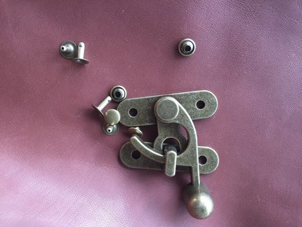 Hook & Eye clasp 50x55  Large AB