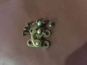 Hook & Eye clasp 30x35  Small AB